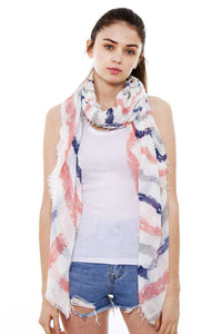 Striped Oblong Scarf [chicberri]
