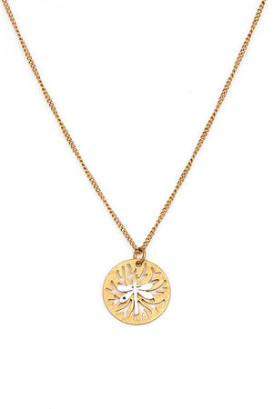 Modern Stylish Brass Dragonfly Pendant Necklace And Earring Set [chicberri]
