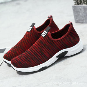 Mesh Walking Casual Slip On Sneakers [chicberri]