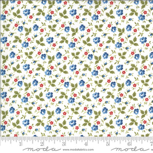 Harbor Springs Fresh Flowers Cream Yardage for Moda - 14904 11  - PRICE PER 1/2 YARD