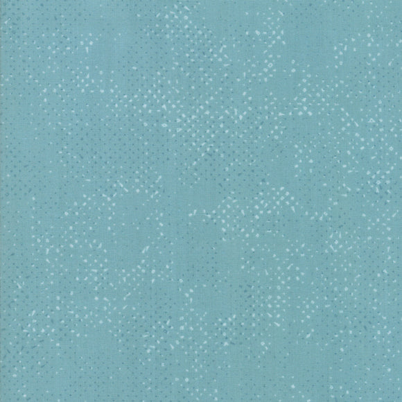 Spotted Dusty Teal Yardage by Zen Chic for Moda 1660-77 - PRICE PER 1/2 YARD