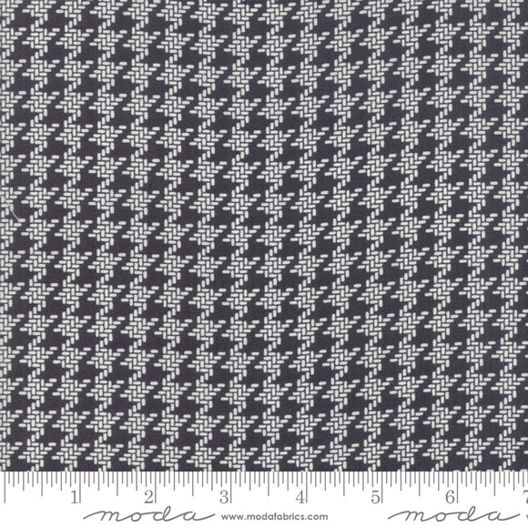 All Hallow's Eve Houndstooth Midnight Yardage by Fig Tree & Co. for Moda - 20355 13- PRICE PER 1/2 YARD