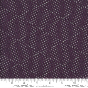 Mill Creek Garden Diamond Stitches Purple Yardage by Jan Patek for Moda - 2243 12 - PRICE PER 1/2 YARD