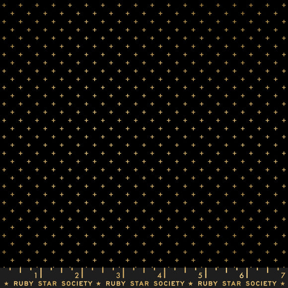 Ruby Star Society Add It Up Metallic Gold  Yardage by Moda -RS4005 15M - PRICE PER 1/2 YARD