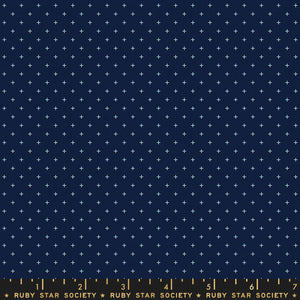 Ruby Star Society Add It Up Navy Yardage by Moda -RS4005 27 - PRICE PER 1/2 YARD