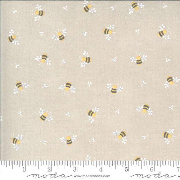Spring Brook Bees Stone Yardage for Moda -29112 12 - PRICE PER 1/2 YARD