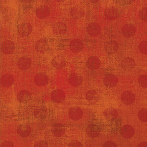 Grunge Hits The Spot Pumpkin Yardage by Basic Gray for Moda - 30149-42  - PRICE PER 1/2 YARD