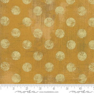 Hits The Spot Metallic Harvest Gold Yardage for Moda - 30149 522M  - PRICE PER 1/2 YARD