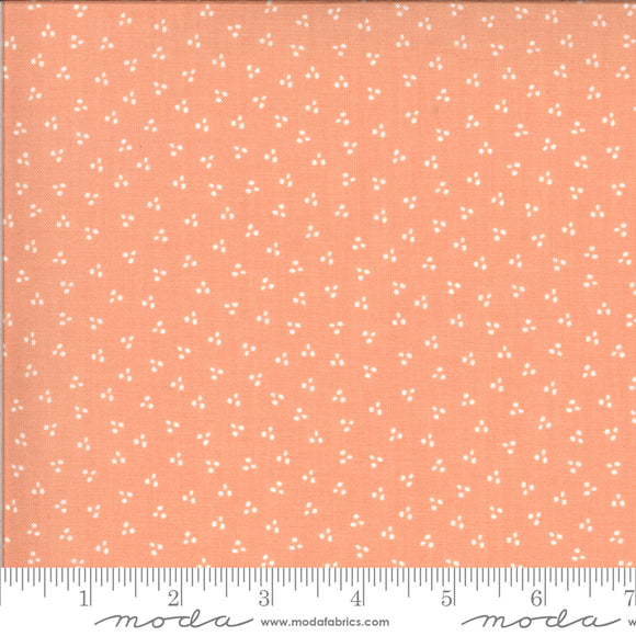Happy Days Spring Dots Peach Yardage by Sherri & Chelsi for Moda - 37605 14 - PRICE PER 1/2 YARD