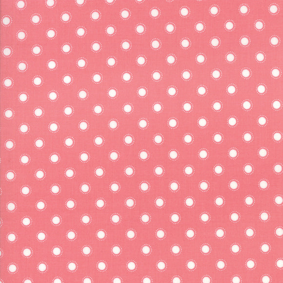 Bloomington Coated ROT Rose Yardage for Moda - 5114 14C  - PRICE PER 1/2 YARD