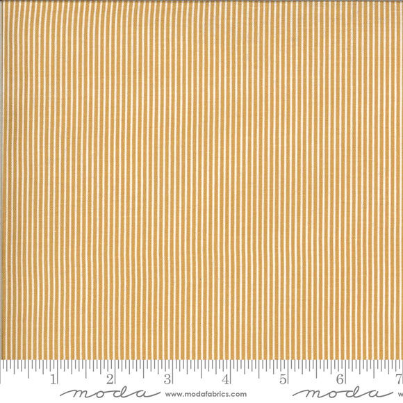 Folktale Skinny Stripes Golden Yardage for Moda - 5125 16  - PRICE PER 1/2 YARD