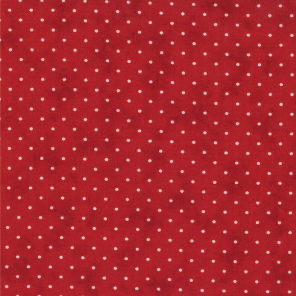Essential Dots Country Red Yardage by Moda 8654-101 - PRICE PER 1/2 YARD