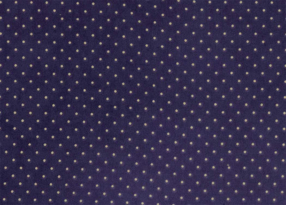Essential Dots Navy Yardage by Moda 8654-25 - PRICE PER 1/2 YARD