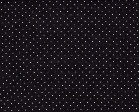 Essential Dots Jet Black Yardage by Moda 8654-41 - PRICE PER 1/2 YARD