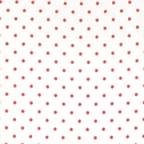 Essentially Yours White Red Yardage by Moda 8654-51 - PRICE PER 1/2 YARD