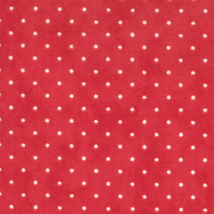 Essential Dots Christmas Red Yardage by Moda 8654-52 - PRICE PER 1/2 YARD