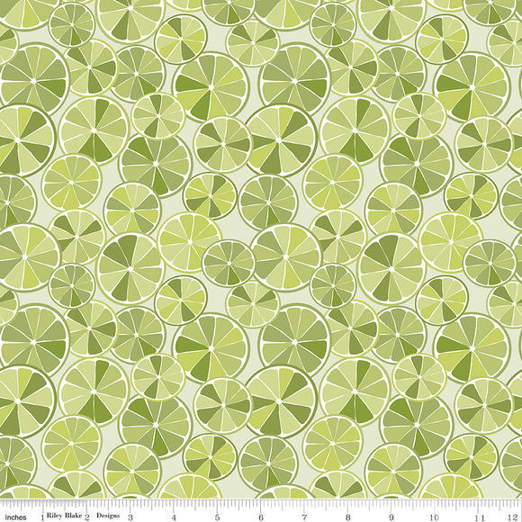 Grove Slices Limeade Yardage for Riley Blake Designs C10141 LIMEADE PRICE PER 1/2 YARD