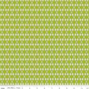 Grove Rows Limeade Yardage for Riley Blake Designs C10144 LIMEADE PRICE PER 1/2 YARD