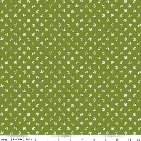 Grove Mini Limeade Yardage for Riley Blake Designs C10145 LIMEADE PRICE PER 1/2 YARD