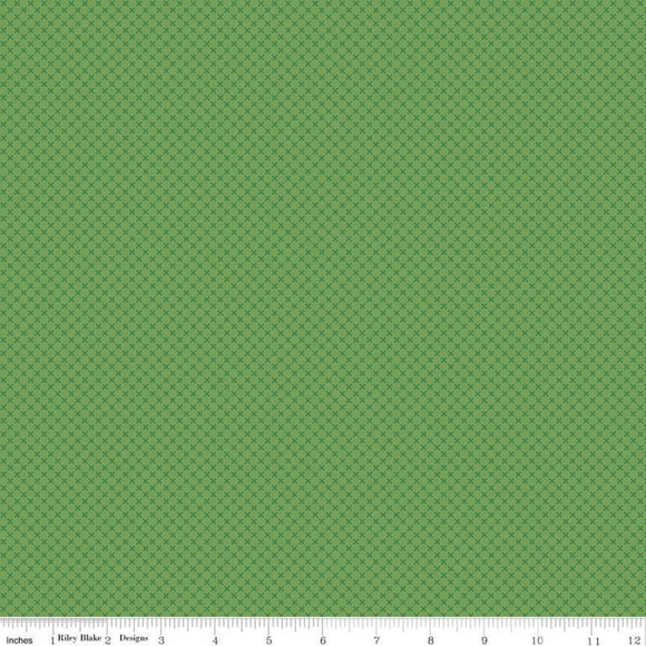 Kisses Tone on Tone Clover Yardage for RBD- C210 - PRICE PER 1/2 YARD
