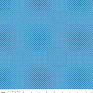 Kisses Tone On Tone Medium Blue Yardage for Riley Blake Designs-C210 MED BLUE - PRICE PER 1/2 YARD