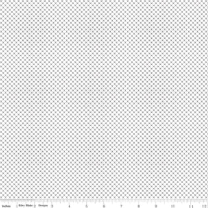Kisses on White with Gray Yardage for RBD-C220  - PRICE PER 1/2 YARD
