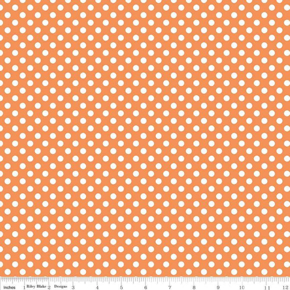 Small Dots Orange Yardage by RBD C350 60 - PRICE PER 1/2 YARD