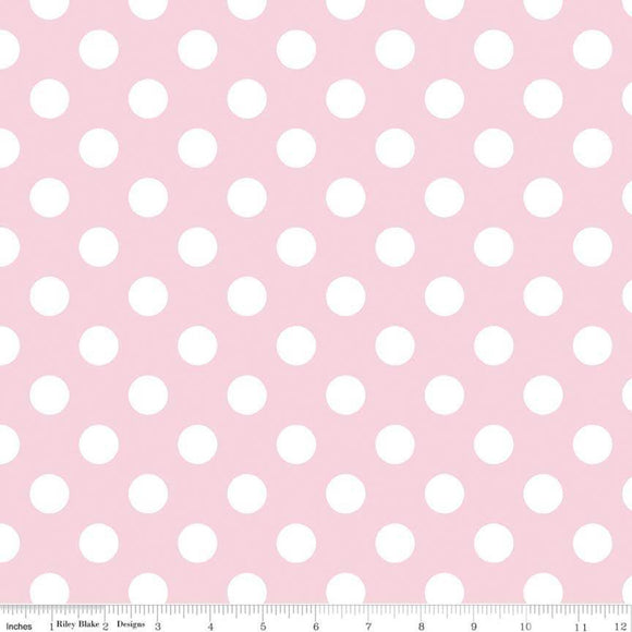 Medium Dot Baby Pink Yardage by RBD C360 75 - PRICE PER 1/2 YARD