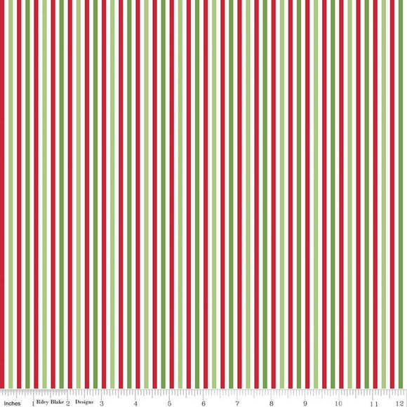 Stripe 1/8 inch Christmas Yardage by RBD for Riley Blake Designs C495 - PRICE PER 1/2 YARD
