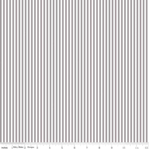 Stripe 1/8 inch Gray Yardage by RBD for Riley Blake Designs C495-GRAY - PRICE PER 1/2 YARD