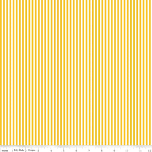 Stripe 1/8 inch Mustard Yardage by RBD C495 - PRICE PER 1/2 YARD