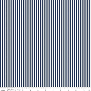 Stripe 1/8 inch Navy Yardage by RBD C495 - PRICE PER 1/2 YARD
