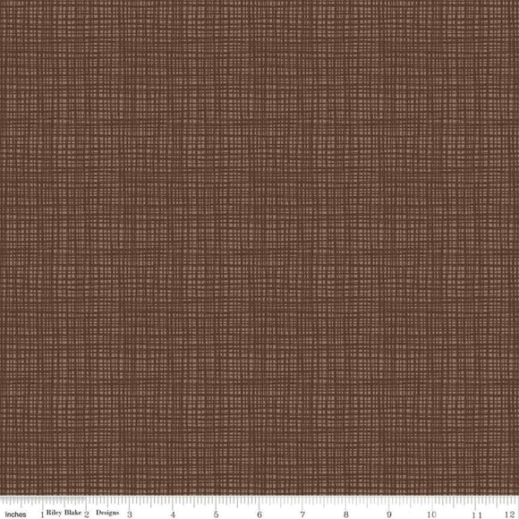 Texture Chocolate Yardage by Sandy Gervais for Riley Blake Designs-C610 - PRICE PER 1/2 YARD