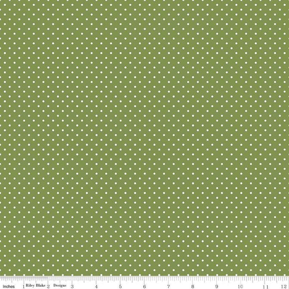 Swiss Dot Tree Top Yardage by RBD for Riley Blake Designs C670 - PRICE PER 1/2 YARD