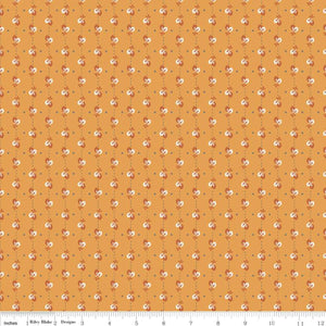 Autumn Love Leaves Orange Yardage for Riley Blake Designs-C7363 - PRICE PER 1/2 YARD