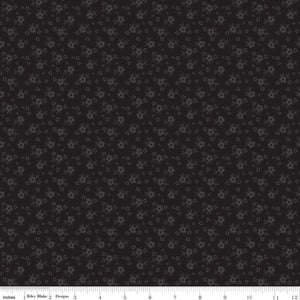 Calico Tone on Tone Black Yardage by RBD for Riley Blake Designs C740 110 - PRICE PER 1/2 YARD