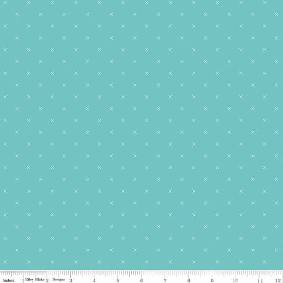 Bee Cross Stitch in Color Cottage Yardage for RBD-C745 COTTAGE - PRICE PER 1/2 YARD