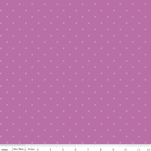 Bee Cross Stitch in Color Plum Yardage for RBD-C745 PLUM - PRICE PER 1/2 YARD