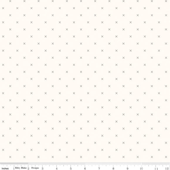 Bee Cross Stitch in Color Pebble Yardage for RBD-C747 PEBBLE - PRICE PER 1/2 YARD