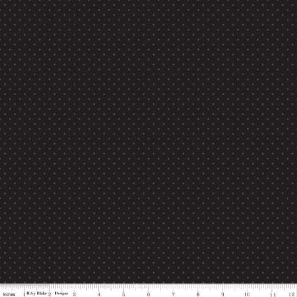 Swiss Dot Tone on Tone Black Yardage by RBD for Riley Blake Designs C790-110 - PRICE PER 1/2 YARD