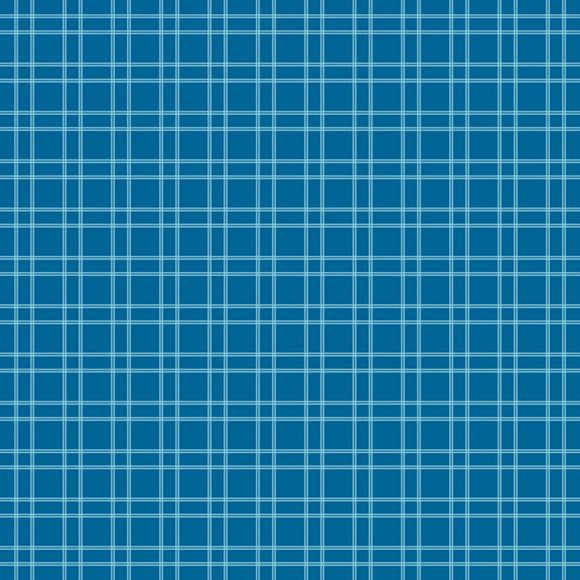 Fireworks & Freedom Plaid Blue Yardage by Belva Blvd for RBD C9304 BLUE - PRICE PER 1/2 YARD