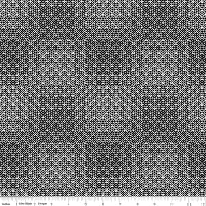 Modern Farmhouse Geometric Black Yardage by Simple Simon & Co.  - C9465 - PRICE PER 1/2 YARD