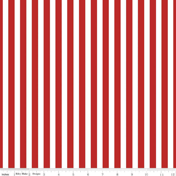 Pirate Tales Stripes Red Yardage for RBD-C9686-RED - PRICE PER 1/2 YARD