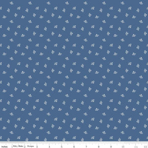 Prim Blossoms Denim Yardage by Lori Holt for RBD C9691 DENIM - PRICE PER 1/2 YARD