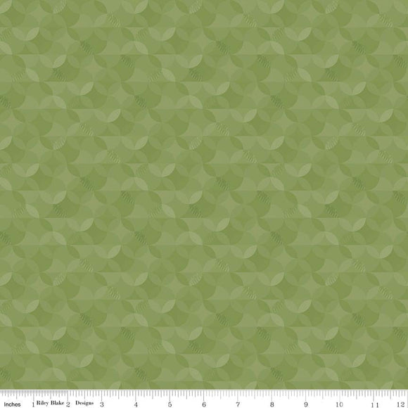 Crayola Kaleidoscope Asparagus Yardage by RBD CR480 - PRICE PER 1/2 YARD