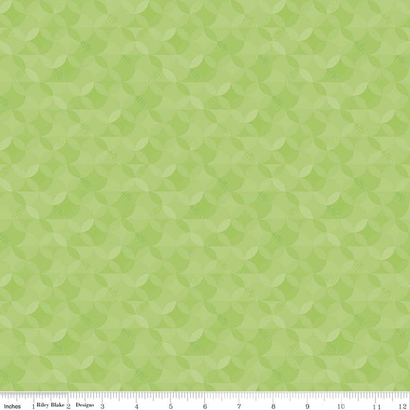 Crayola Kaleidoscope Key Lime Yardage by RBD CR480 - PRICE PER 1/2 YARD