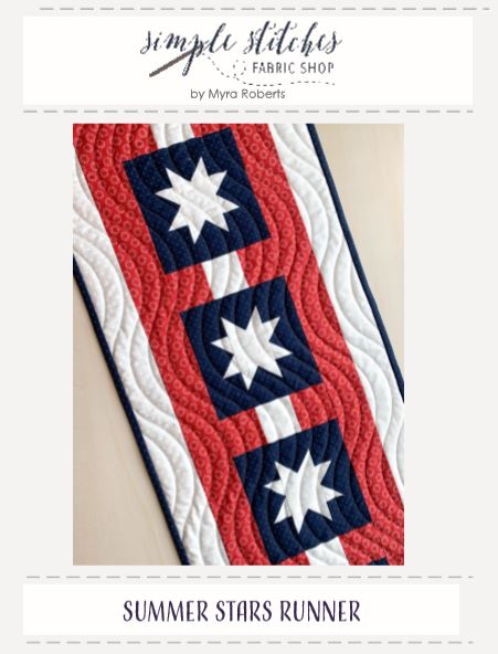Summer Stars Runner Pattern