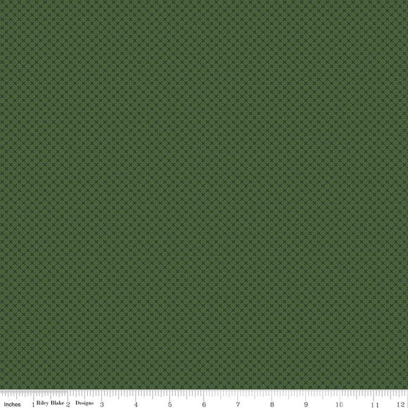 Kisses Tone on Tone Hunter Yardage by Doodlebug Designs for Riley Blake Designs-C210 HUNTER - PRICE PER 1/2 YARD