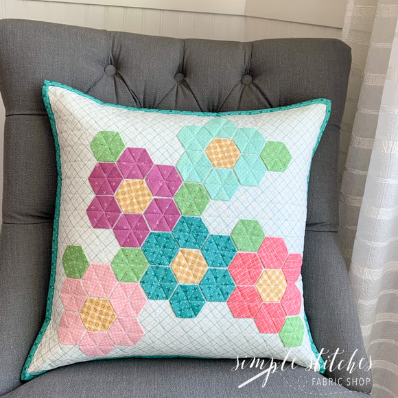Flower Hexie Pillow Kit