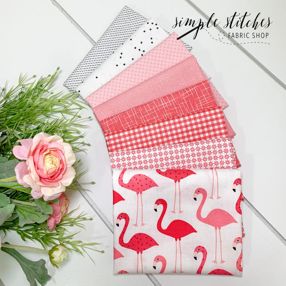 Flamingo Simple Bundle (8) Fat Quarter Bundle